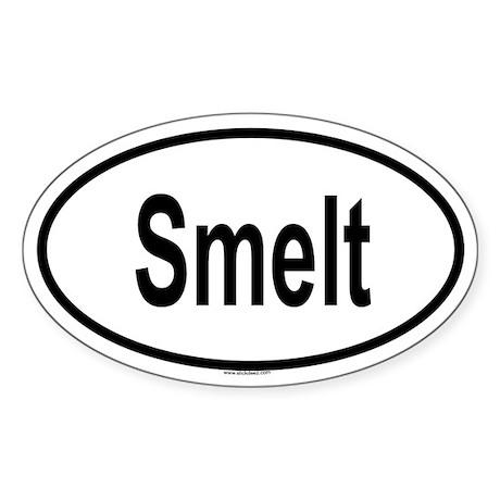 SMELT Oval Sticker