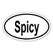SPICY Oval Decal