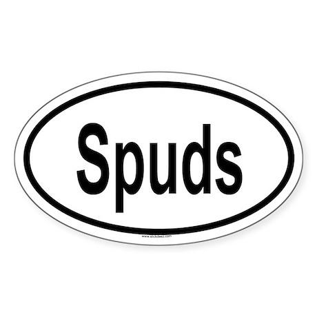 SPUDS Oval Sticker
