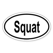 SQUAT Oval Decal