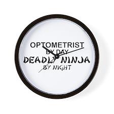 Optometrist Deadly Ninja Wall Clock