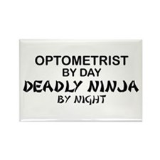Optometrist Deadly Ninja Rectangle Magnet