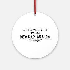 Optometrist Deadly Ninja Ornament (Round)