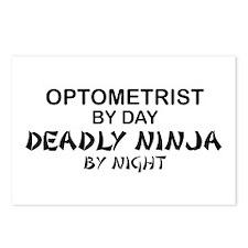 Optometrist Deadly Ninja Postcards (Package of 8)
