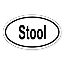STOOL Oval Decal