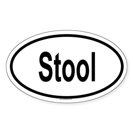 STOOL Oval Sticker