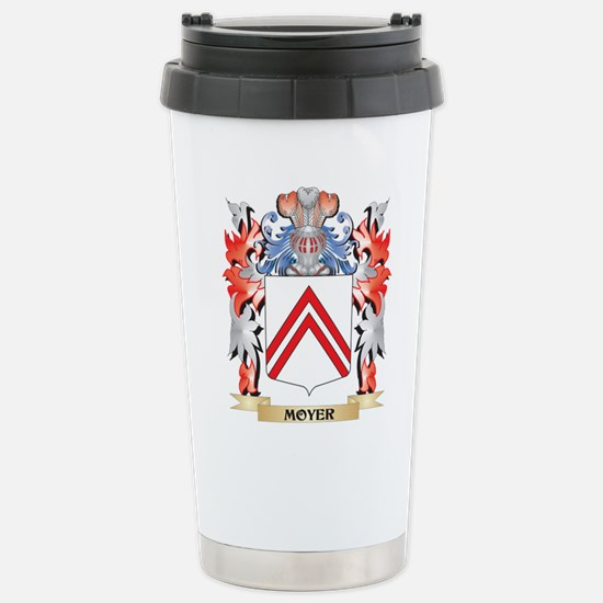 Moyer Coat of Arms - Fa Stainless Steel Travel Mug