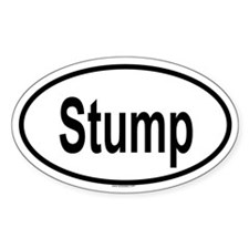 STUMP Oval Decal