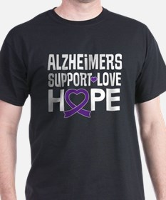 Alzheimers Disease Awareness Ribbon T-Shirt