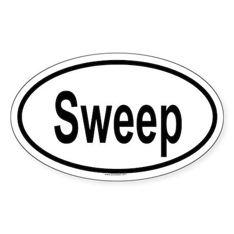 SWEEP Oval Sticker