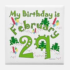 Leap Year Birthday Feb. 29th Tile Coaster