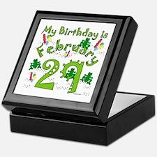 Leap Year Birthday Feb. 29th Keepsake Box