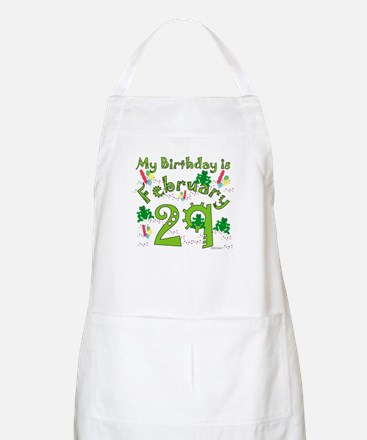 Leap Year Birthday Feb. 29th Apron