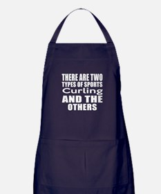 There Are Two Types Of Sports Curling Apron (dark)