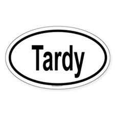 TARDY Oval Decal
