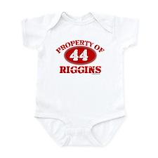 PROPERTY OF (44) RIGGINS Infant Bodysuit