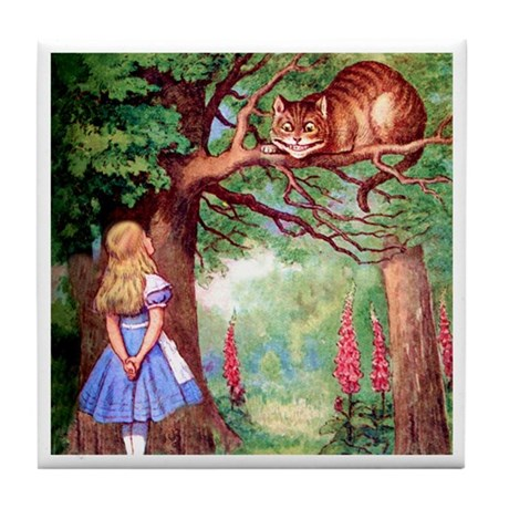 ALICE & THE CHESHIRE CAT Tile Coaster