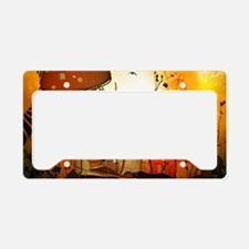 The fairy house in the night License Plate Holder