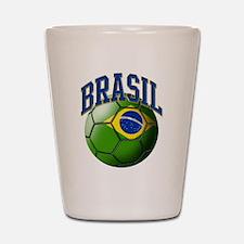 Flag of Brasil Soccer Ball Shot Glass