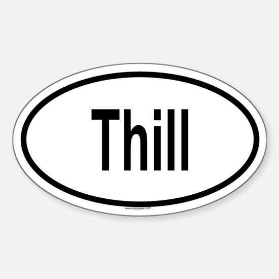 THILL Oval Decal
