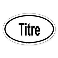 TITRE Oval Decal
