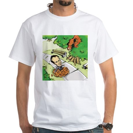 Catch the Squirrel White T-Shirt