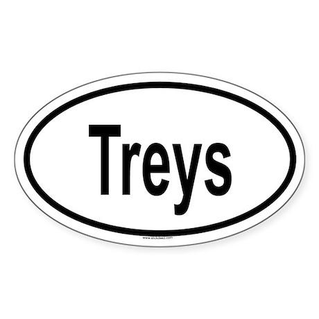 TREYS Oval Sticker