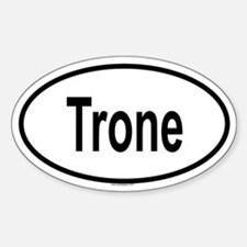 TRONE Oval Decal