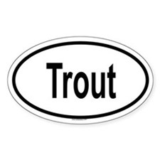 TROUT Oval Decal
