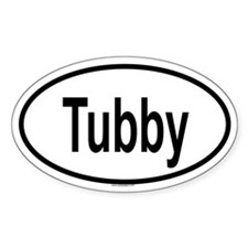 TUBBY Oval Decal