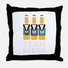 Team Groom Beerbottles Cqf18 Throw Pillow