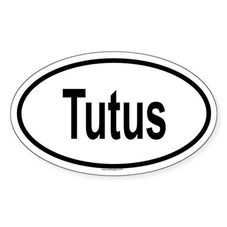 TUTUS Oval Sticker