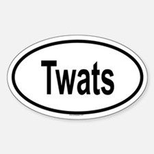 TWATS Oval Decal