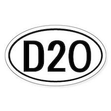 D20 D 20 D & D Oval Decal