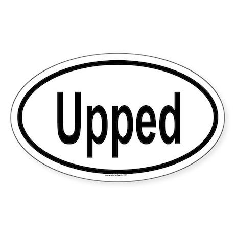 UPPED Oval Sticker