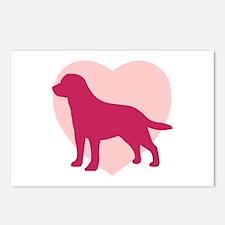 Labrador Retriever Valentine's Day Postcards (Pack