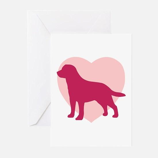 Labrador Retriever Valentine's Day Greeting Cards
