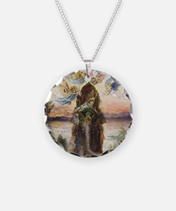 The Sacred Elepant Painting Necklace