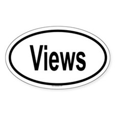 VIEWS Oval Decal