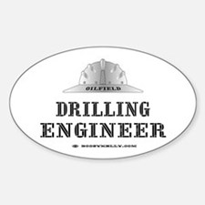 Drilling Engineer Oval Decal