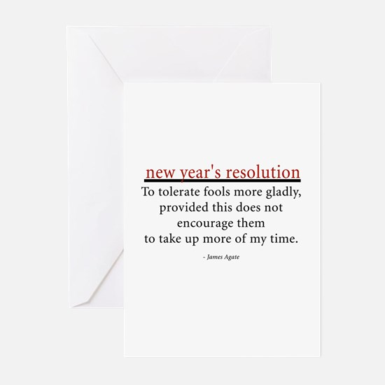 New Year's Resolution Greeting Cards (Pk of 20)