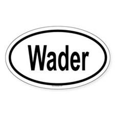 WADER Oval Decal
