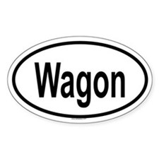WAGON Oval Decal