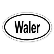 WALER Oval Decal