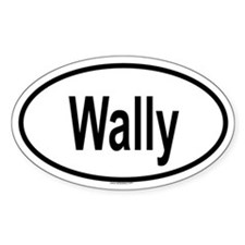 WALLY Oval Decal