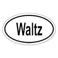 WALTZ Oval Decal