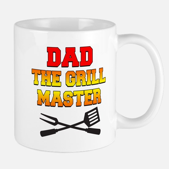 Dad The Grill Master Mugs