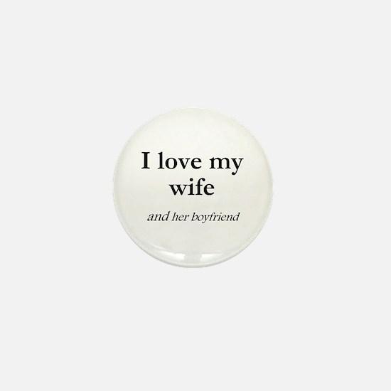 Wife/her boyfriend Mini Button