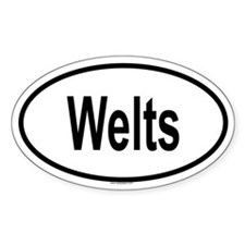 WELTS Oval Decal