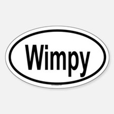 WIMPY Oval Decal